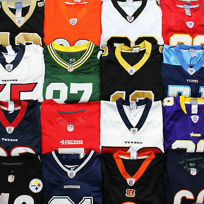 Vintage NFL Authentic Jerseys Assorted Teams Colours & Sizes Stitched Shirts