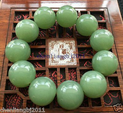 100% Beautiful Chinese Natural Handcraft Jade Bracelets 20MM AAAAA