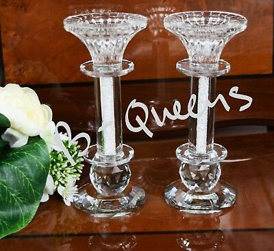 2in1 Crystal Cut T-Light & Candlestick Holder SwarovskElement X-Mas Gift Box