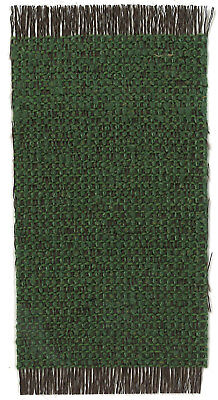 Dollhouse Miniature Woven Accent Rug in Green & Black ~ HWRSZ16
