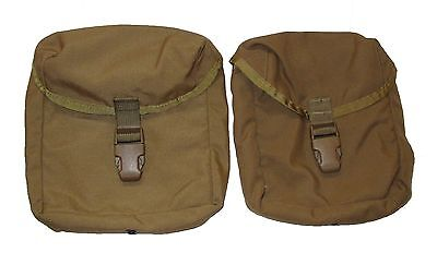 Lot of 2 US Army Military Surplus Coyote Tan IFAK First Aid Pouch VG-XC