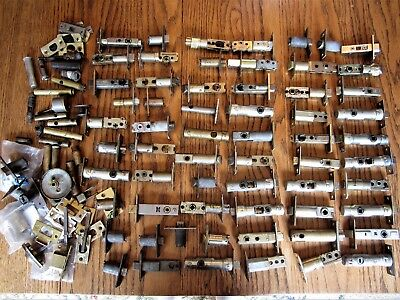 Antique Brass Door Knob Key Locks Vintage Handle Cylinder Mortise Strike Plates