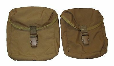 Lot of 2 US Army Military Surplus Coyote Tan IFAK First Aid Pouch G-VG