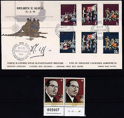 "1979 Malta End Of Military Facilities Agreement FDC Signed by PM ""DOM MINTOFF"""