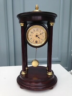 HAC Pagoda Bandstand Mantle Clock 1920's Vintage, just serviced.