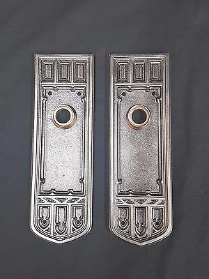 Art Deco Solid Brass Large Back Plates Set of Two