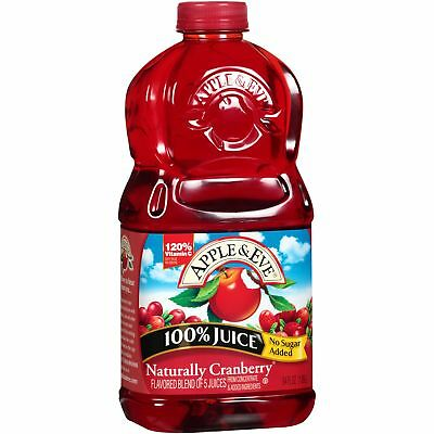 Apple and Eve 100 Percent Juice Naturally Cranberry Juice - Case of 8 - 64 fl oz