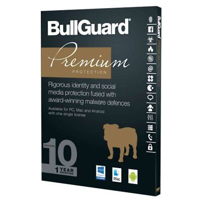 NEW BullGuard Premium Protection Internet Security & Antivirus 2017 - 10 Users