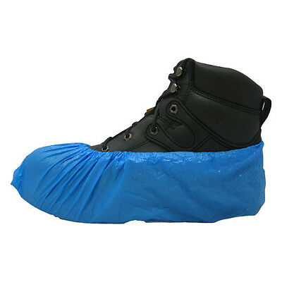 Carpet Clean, HVAC Disposable Blue Polyethylene Shoe Covers Size XLarge 1000/CS.