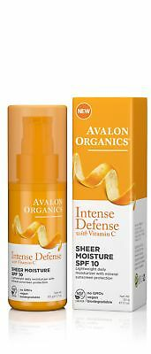 Avalon Intense Defense Sheer Moisture - SPF 10 - Case of 1 - 1.75 oz.