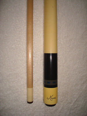 MEUCCI POOL CUE, 19 5 Ounce Model 233-4 with Original No Dot Shaft, 2 Point  Cue
