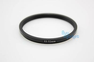 Metal Adapter Filter Lens Camera Step Down Ring 55-52mm 55mm to 52mm _US