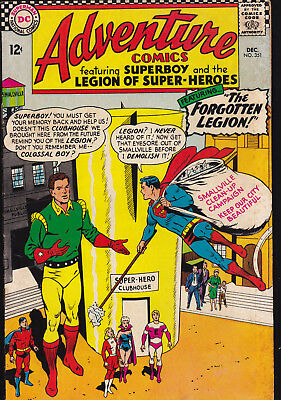 Adventure Comics # 351 (Vg/fn) Dec. 1966 Silver Age (Dc)