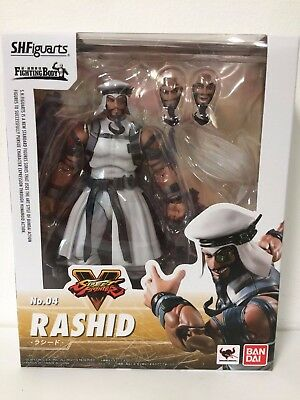 IN STOCK!  Brand New S.H.Figuarts Street Fighter 5 V Rashid Bandai US SELLER