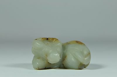 Estate Fine China Chinese Carved Jade Water Buffalo Carving Sculpture Art