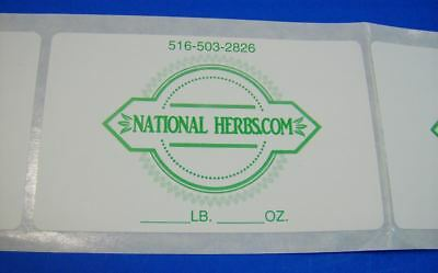 """5,000 Printed Labels 1-1/4"""" x 1-3/4""""  Custom Rectangle Business Stickers 1 Color"""