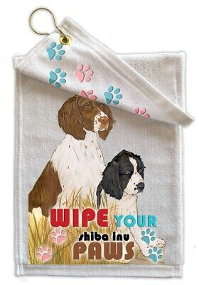 English Springer Paw Wipe Towel