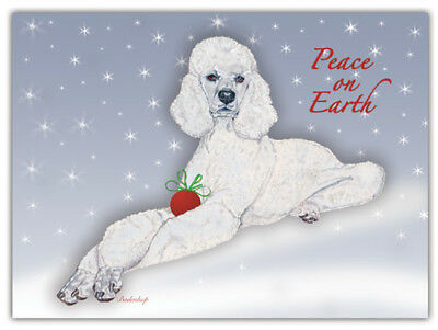 Poodle Christmas Cards Set of 10 cards & 10 envelopes