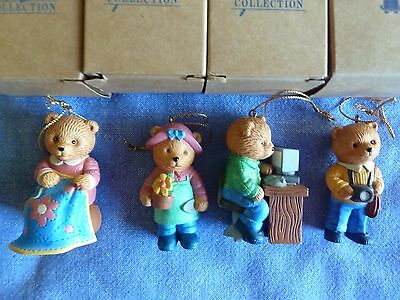 New Avon Hobby Bear Ornament Collection Gardening, Computer, Photography, Sewing