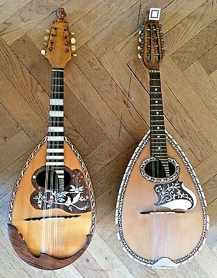 Two Mandolin VINACCIA, NAPOLI 1929 and 1938 mandolino antico mandoline alte old