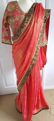 Indian designer party wear saree ethnic pakistani bollywood wedding sari