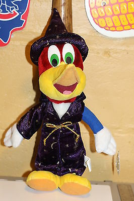 Very Nice Woody Woodpecker Wizard Plush!! Bnwt! 17 Inches Tall New!!!