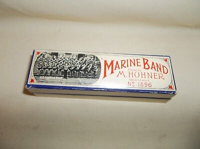 Older M.hohner Marine Band Harmonica A440 Key Of C In Original Box No.1896