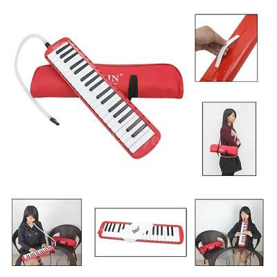 37 Piano Keys Melodica Pianica with Carrying Bag for Student Beginner Red H0W0