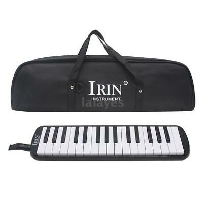 32 Piano Keys Melodica Musical Instrument for Beginner w/Carrying Bag Black W0U1