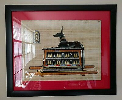 Egyptian original papyrus art (Anubis)