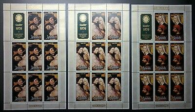 Decimal,Cook Islands,Aitutaki,Pacific,1976 Christmas,MS176-178,Set of3,MUH,#1267