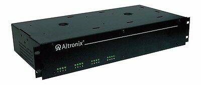 Altronix 19' rack mount CCTV power supply 12VDC and/or 24VDC, 18 amp (16) output