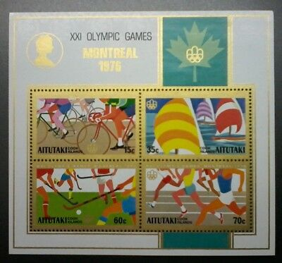 Decimal,Cook Islands,Aitutaki,Pacific,1976 Olympic Games,MS194,MUH,CV$5,#1271