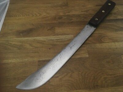 "antique CASE XX TESTED carbon steel 10"" blade RAZOR SHARP butcher Knife vintage"