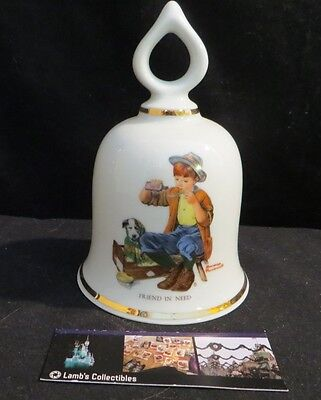 Norman Rockwell ceramic bell Friend in Need Danbury Mint 1979 Limited Edition