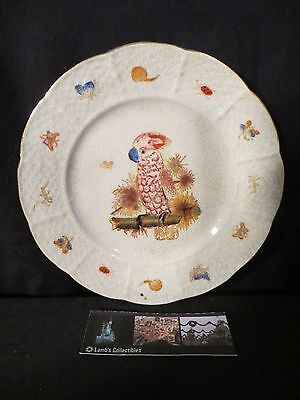 Vintage handpainted cockateil plate unique and pretty 6 1/2 inch approx