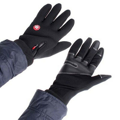 Winter Windproof Warm Leather Motorcycle Motorbike Riding Gloves 1Pair UK STOCK