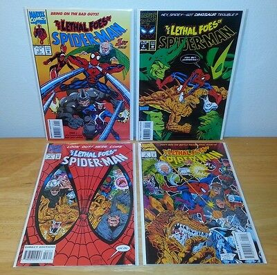 The Lethal Foes of Spider-Man 1 2 3 4 complete NM (Marvel,1993)