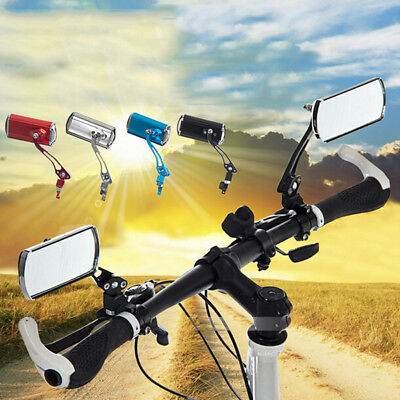 2x Flexible Aluminum Bike Rear View Mirror Mountain Bicycle Rearview Handlebar