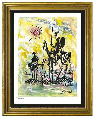 """Pablo Picasso Signed/Hand-Numbered Ltd Ed """"Don Quixote"""" Litho Print (unframed)"""