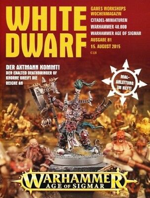 White Dwarf 81 August 2015 (German) by the 15 August 2015 Games Workshop
