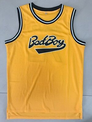 Biggie Smalls #72 Bad Boy Notorious BIG Basketball Jersey Stitched YELLOW
