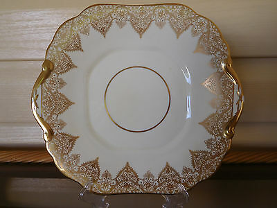 """Vintage Hammersley """"Parcels Of Time"""" Cake Plate 1976 England 1930s"""