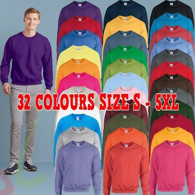 Gildan Heavy Blend™ Adult Crew Neck Men's Plain Sweatshirt Jersey Jumper S-5XL
