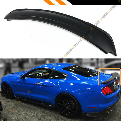 For 2015-18 Ford Mustang GT Track Pack Style ABS Matt Black Trunk Spoiler Wing