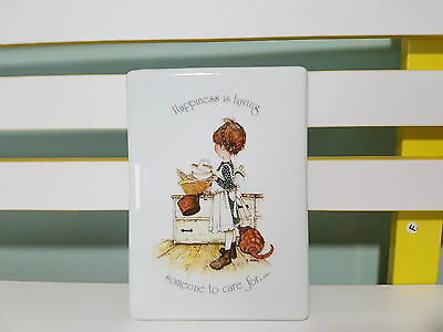 Holly Hobbie 1974 Ceramic Wall Hanging Happiness Is Having Someone To Care For!