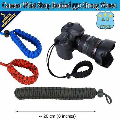 Camera Wrist Strap Soft Braided 550 Strong Weave Adjustable for Canon Sony Phone