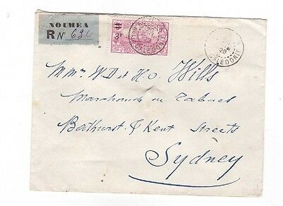 New Caledonia 1928 Registered Cover, cds NOUMEA  & SYDNEY    SCARCE COVER