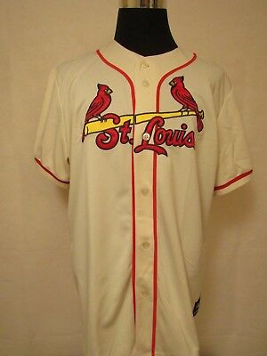 MLB St.Louis Cardinals XL Embroidered Alternate HOME Baseball Jersey by Majestic