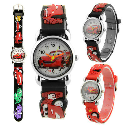 Cute Cartoon 3D Car Quartz Child Kids Wrist Watch Band Christmas Gift